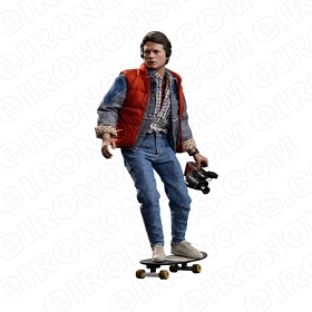 BACK TO THE FUTURE MARTY SKATEBOARDING MOVIE T-SHIRT IRON-ON TRANSFER DECAL #MBTTF4