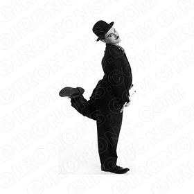 CHARLIE CHAPLIN LEG UP TV T-SHIRT IRON-ON TRANSFER DECAL #TVCC2
