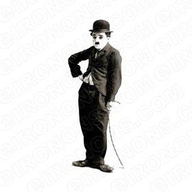 CHARLIE CHAPLIN SIDE VIEW TV T-SHIRT IRON-ON TRANSFER DECAL #TVCC4