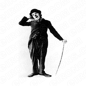 CHARLIE CHAPLIN TIRED TV T-SHIRT IRON-ON TRANSFER DECAL #TVCC7