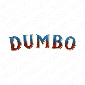 DUMBO THE MOVIE LOGO CHARACTER T-SHIRT IRON-ON TRANSFER DECAL #CDTM15