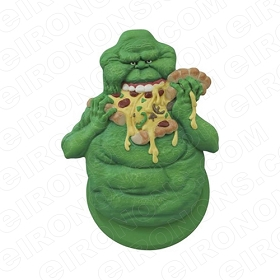 GHOSTBUSTERS SLIMER EATING PIZZA MOVIE T-SHIRT IRON-ON TRANSFER DECAL #MGB8