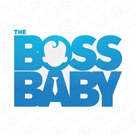 THE BOSS BABY LOGO CHARACTER T-SHIRT IRON-ON TRANSFER DECAL #CTBB6