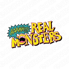 AAAHH!!! REAL MONSTERS LOGO CHARACTER T-SHIRT IRON-ON TRANSFER DECAL #CARM5