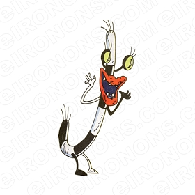 AAAHH!!! REAL MONSTERS OBLINA CHARACTER T-SHIRT IRON-ON TRANSFER DECAL #CARM6