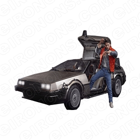 BACK TO THE FUTURE DELOREAN MARTY MOVIE T-SHIRT IRON-ON TRANSFER DECAL #MBTTF1
