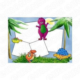 BARNEY BLANK EDITABLE INVITATION INSTANT DOWNLOAD #IB2
