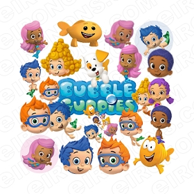 BUBBLE GUPPIES CLIPART PNG IMAGES SCRAPBOOK DIGITAL PRINT TRANSPARENT BACKGROUNDS INSTANT DOWNLOAD