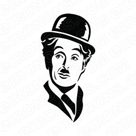 CHARLIE CHAPLIN HEAD SHOT TV T-SHIRT IRON-ON TRANSFER DECAL #TVCC1