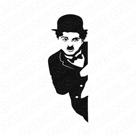 CHARLIE CHAPLIN PEEKING TV T-SHIRT IRON-ON TRANSFER DECAL #TVCC3