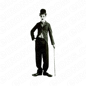 CHARLIE CHAPLIN STANDING TV T-SHIRT IRON-ON TRANSFER DECAL #TVCC6