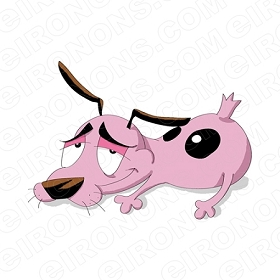 COURAGE THE COWARDLY DOG LAYING CHARACTER T-SHIRT IRON-ON TRANSFER DECAL #CTCD6