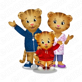 DANIEL TIGERS NEIGHBORHOOD GROUP POSE 2 CHARACTER T-SHIRT IRON-ON TRANSFER DECAL #CDTN4