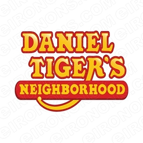 DANIEL TIGERS NEIGHBORHOOD LOGO CHARACTER T-SHIRT IRON-ON TRANSFER DECAL #CDTN7