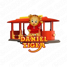 DANIEL TIGERS NEIGHBORHOOD LOGO CHARACTER T-SHIRT IRON-ON TRANSFER DECAL #CDTN8
