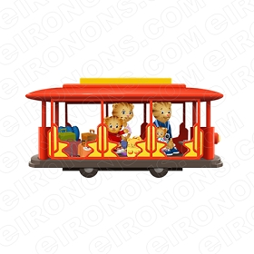 DANIEL TIGERS NEIGHBORHOOD ON TROLLEY CHARACTER T-SHIRT IRON-ON TRANSFER DECAL #CDTN10