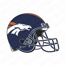 DENVER BRONCOS HELMET LOGO SPORTS NFL FOOTBALL T-SHIRT IRON-ON TRANSFER DECAL #SFDB1