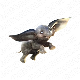 DUMBO THE MOVIE DUMBO FLYING CHARACTER T-SHIRT IRON-ON TRANSFER DECAL #CDTM14