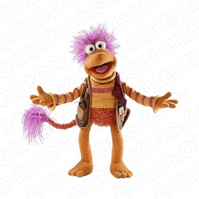 FRAGGLE ROCK GOBO FRONT VIEW HANDS OUT CHARACTER T-SHIRT IRON-ON TRANSFER DECAL #CFR3