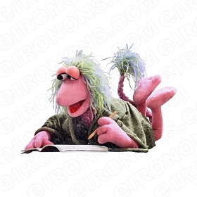 FRAGGLE ROCK MOKEY WRITING CHARACTER T-SHIRT IRON-ON TRANSFER DECAL #CFR7