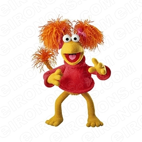 FRAGGLE ROCK RED HANDS OUT CHARACTER T-SHIRT IRON-ON TRANSFER DECAL #CFR8