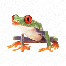 RED EYED TREE FROG ANIMAL T-SHIRT IRON-ON TRANSFER DECAL #AF2