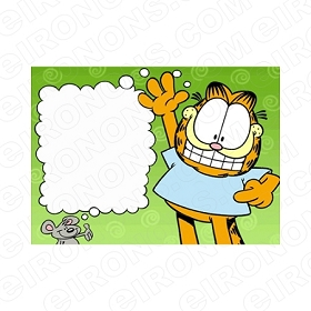 GARFIELD BLANK EDITABLE INVITATION INSTANT DOWNLOAD #IG4