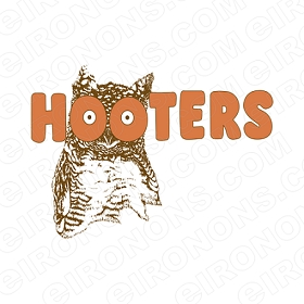 HOOTERS LOGO ADVERTISING T-SHIRT IRON-ON TRANSFER DECAL #AHL2