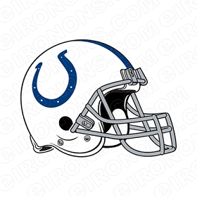 INDIANAPOLIS COLTS HELMET LOGO SPORTS NFL FOOTBALL T-SHIRT IRON-ON TRANSFER DECAL #SFIC1