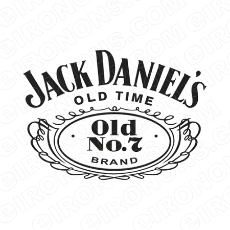 Jack daniels logo white alcohol t shirt iron on transfer decal jack daniels logo white alcohol t shirt iron on transfer decal ajd4 your one stop iron on transfer decal super shop eironons voltagebd Gallery