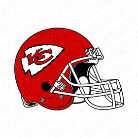 KANSAS CITY CHIEFS HELMET LOGO SPORTS NFL FOOTBALL T-SHIRT IRON-ON TRANSFER DECAL #SFKCC1