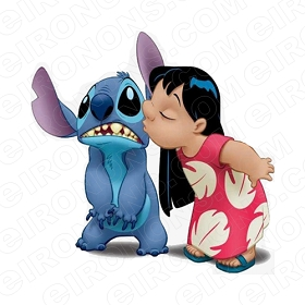 LILO & STITCH CHARACTER T-SHIRT IRON-ON TRANSFER DECAL #CLAS4