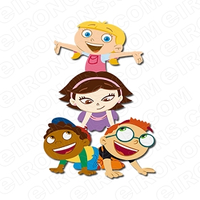 LITTLE EINSTEINS GROUP POSE CHARACTER T-SHIRT IRON-ON TRANSFER DECAL #CLE4