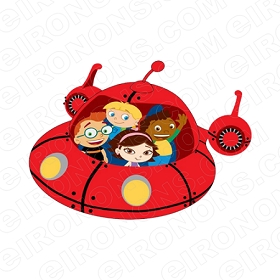 LITTLE EINSTEINS IN ROCKET CHARACTER T-SHIRT IRON-ON TRANSFER DECAL #CLE6