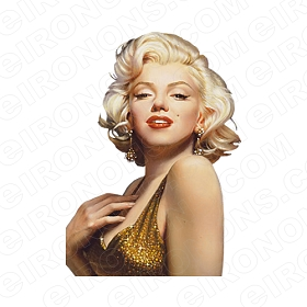 MARILYN MONROE GOLD DRESS TV T-SHIRT IRON-ON TRANSFER DECAL #TVMMR3