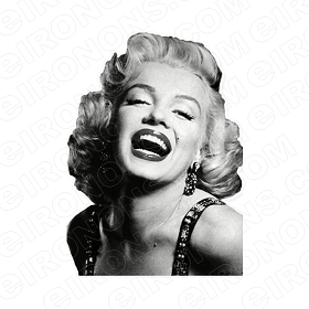 MARILYN MONROE LAUGHING TV T-SHIRT IRON-ON TRANSFER DECAL #TVMMR4