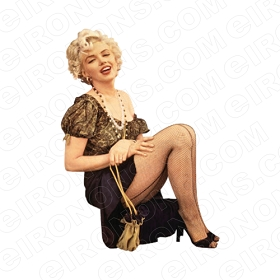 MARILYN MONROE SITTING TV T-SHIRT IRON-ON TRANSFER DECAL #TVMMR7