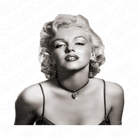 MARILYN MONROE TV T-SHIRT IRON-ON TRANSFER DECAL #TVMMR8