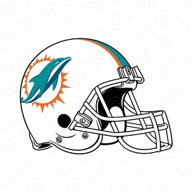 MIAMI DOLPHINS HELMET LOGO SPORTS NFL FOOTBALL T-SHIRT IRON-ON TRANSFER DECAL #SFMD1