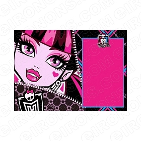 MONSTER HIGH BLANK EDITABLE INVITATION INSTANT DOWNLOAD #IMH2