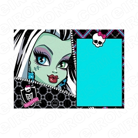 MONSTER HIGH BLANK EDITABLE INVITATION INSTANT DOWNLOAD #IMH4