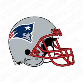 NEW ENGLAND PATRIOTS HELMET LOGO SPORTS NFL FOOTBALL T-SHIRT IRON-ON TRANSFER DECAL #SFNEP1