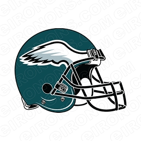PHILADELPHIA EAGLES HELMET LOGO SPORTS NFL FOOTBALL T-SHIRT IRON-ON TRANSFER DECAL #SFPE1