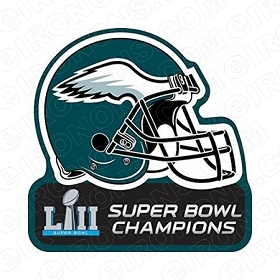 PHILADELPHIA EAGLES HELMET LOGO SUPER BOWL CHAMPIONS LOGO SPORTS NFL FOOTBALL T-SHIRT IRON-ON TRANSFER DECAL #SFPE2