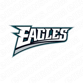 PHILADELPHIA EAGLES WORDMARK LOGO SPORTS NFL FOOTBALL T-SHIRT IRON-ON TRANSFER DECAL #SFPE8