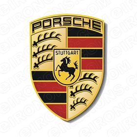 PORSCHE LOGO AUTO T-SHIRT IRON-ON TRANSFER DECAL #AP1