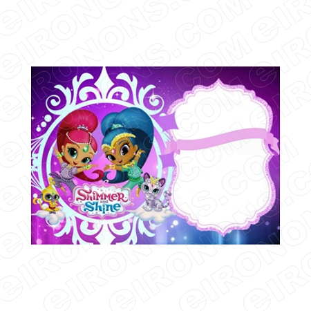 shimmer and shine blank editable invitation instant download isas1