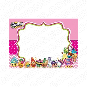 SHOPKINS BLANK EDITABLE INVITATION INSTANT DOWNLOAD #IS1