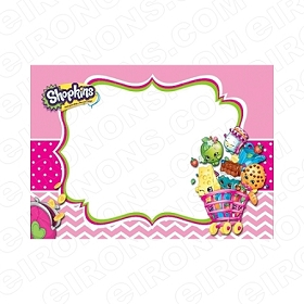 SHOPKINS BLANK EDITABLE INVITATION INSTANT DOWNLOAD #IS3