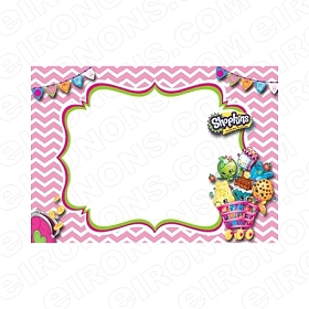 SHOPKINS BLANK EDITABLE INVITATION INSTANT DOWNLOAD #IS4